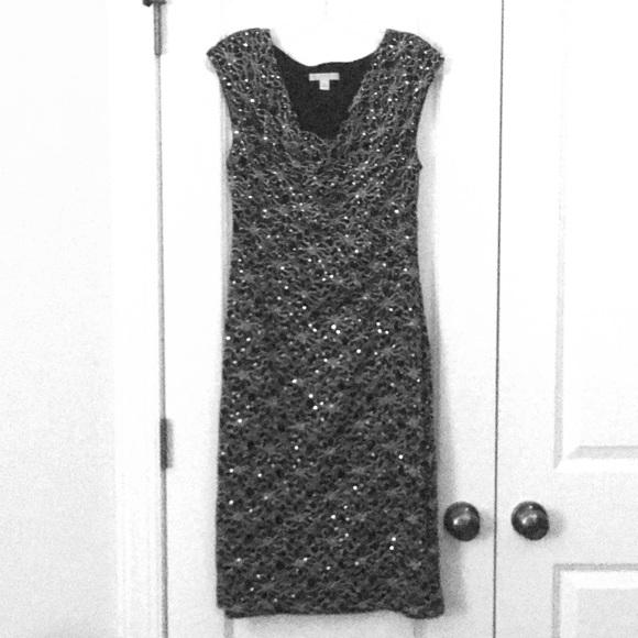 59d8cbe771db Dress Barn Dresses & Skirts - Black & Gold sequin cocktail dress